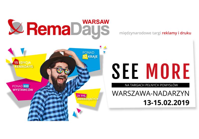 Rema Days International Advertising and Print Fair nach Warschaueinladen
